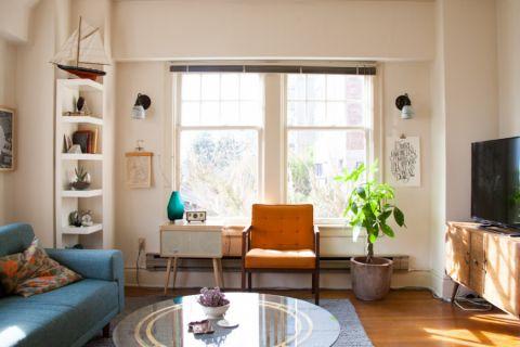 客厅白色窗台混搭风格装饰图片