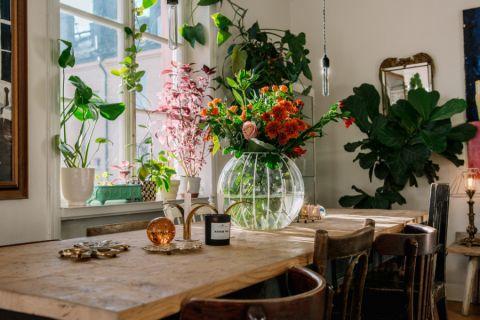 餐厅灰色餐桌混搭风格装饰设计图片