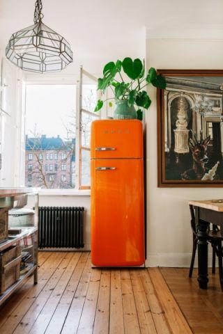 厨房绿色细节混搭风格效果图