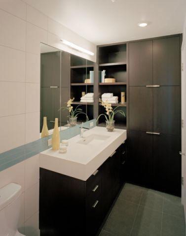 浴室洗漱台现代风格装修设计图片
