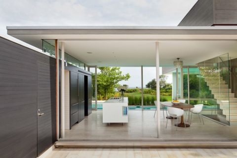 餐厅落地窗现代风格装潢设计图片
