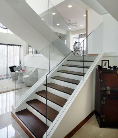 客厅白色楼梯现代风格装修效果图