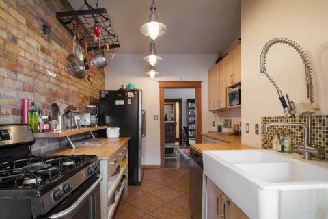 厨房米色隔断混搭风格装饰设计图片