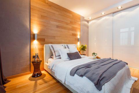 卧室米色背景墙现代风格装潢图片