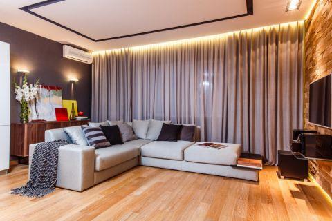 客厅窗帘现代风格装修图片