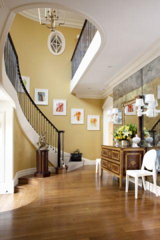 玄关咖啡色门厅现代风格装修图片