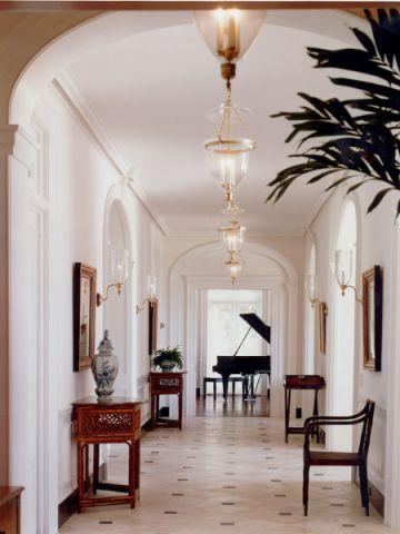 玄关白色门厅美式风格装饰图片