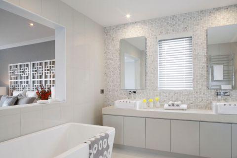浴室白色细节现代风格装潢效果图