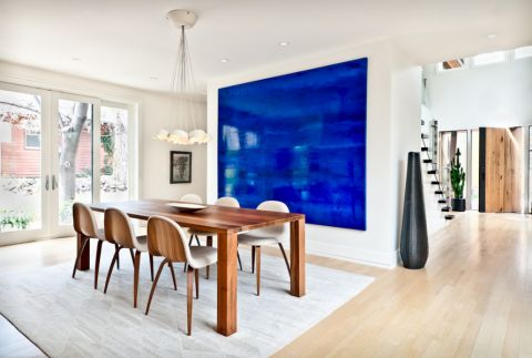 餐厅白色餐桌现代风格装饰设计图片