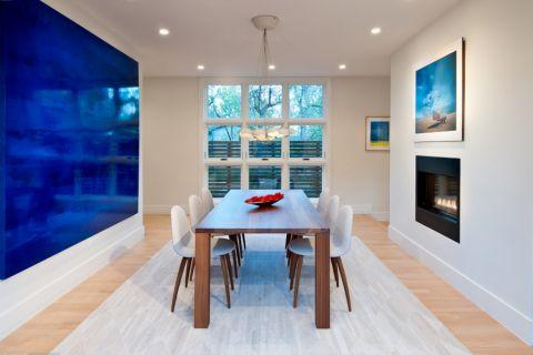 餐厅白色窗帘现代风格装饰效果图