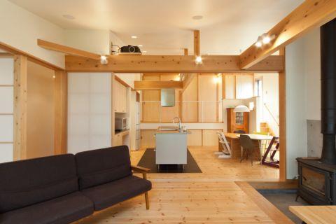 厨房白色厨房岛台混搭风格装潢设计图片