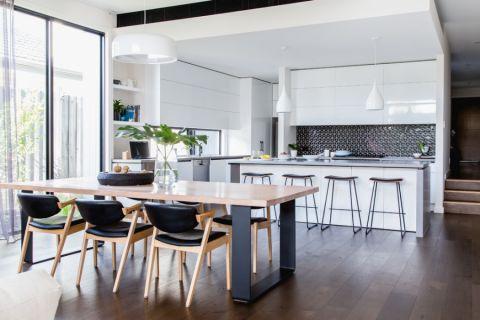 餐厅灰色餐桌现代风格装修图片