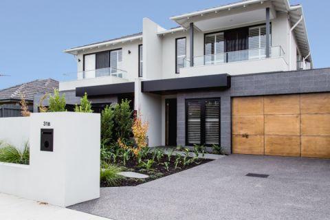 外景白色外墙现代风格装潢设计图片