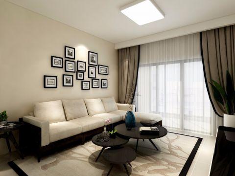 四海云庭89平简约风格三房两厅装修效果图