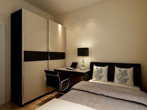 卧室背景墙简约风格装潢图片