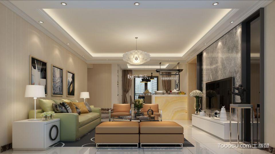 80平方两房两厅现代风格装修效果图