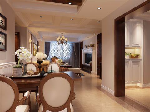餐厅细节美式风格装潢设计图片