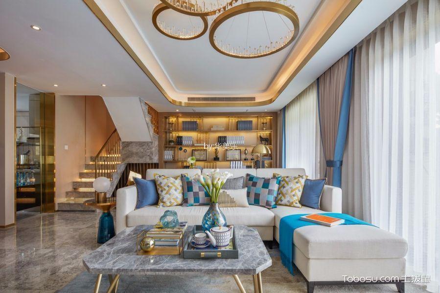 120平米现代风格三房两厅装修效果图