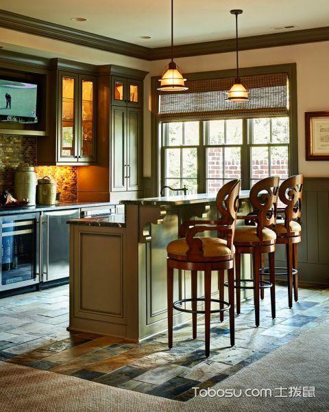 厨房白色美式风格装潢图片