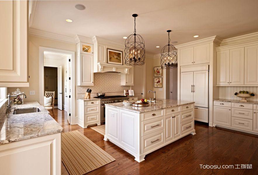 厨房白色美式风格装修效果图