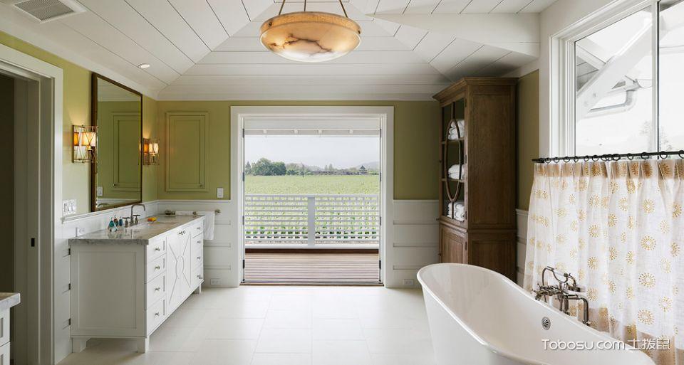 浴室白色洗漱台现代风格装饰设计图片