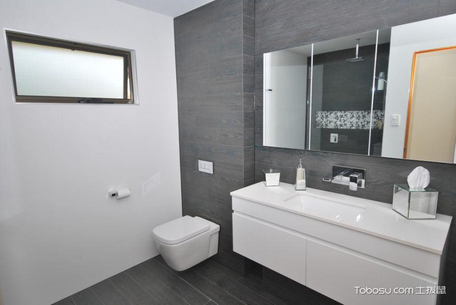 浴室白色洗漱台现代风格装饰图片