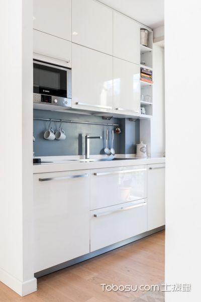 厨房白色现代风格装修图片