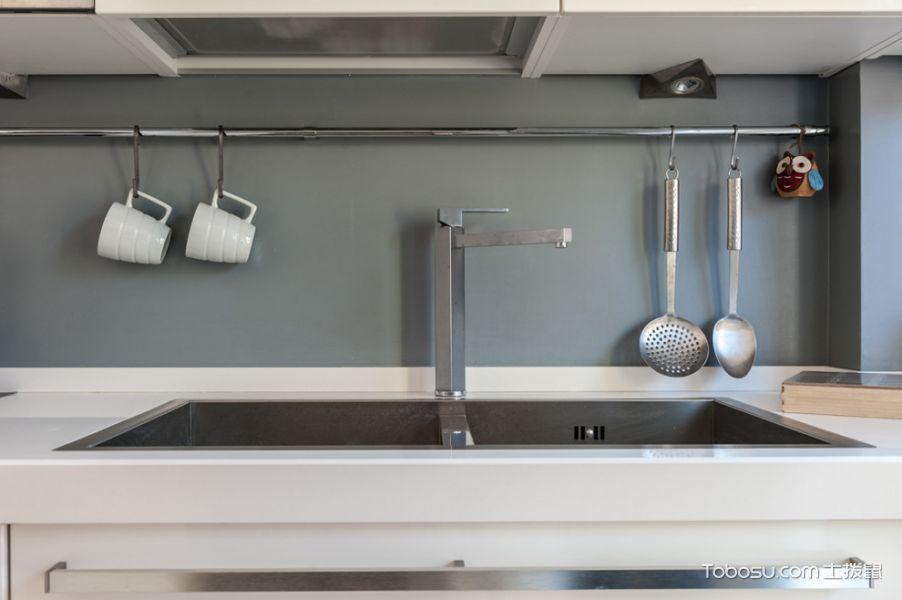 厨房白色现代风格效果图