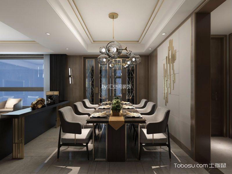 餐厅白色灯具现代风格装饰图片