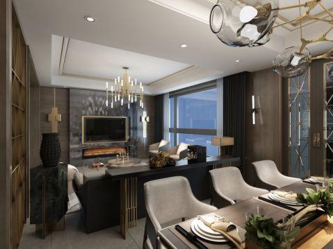 150平米三室兩廳兩衛港式風格