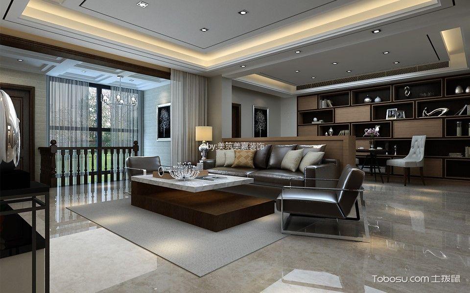 客厅_190平米后现代风格复式装修效果图