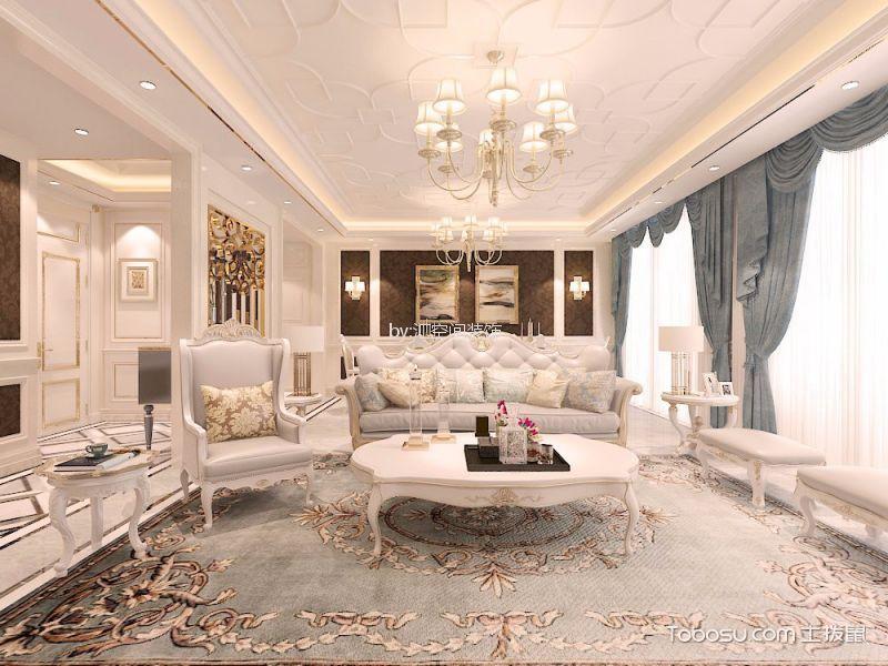 186平米四室两厅两卫欧式风格装修效果图