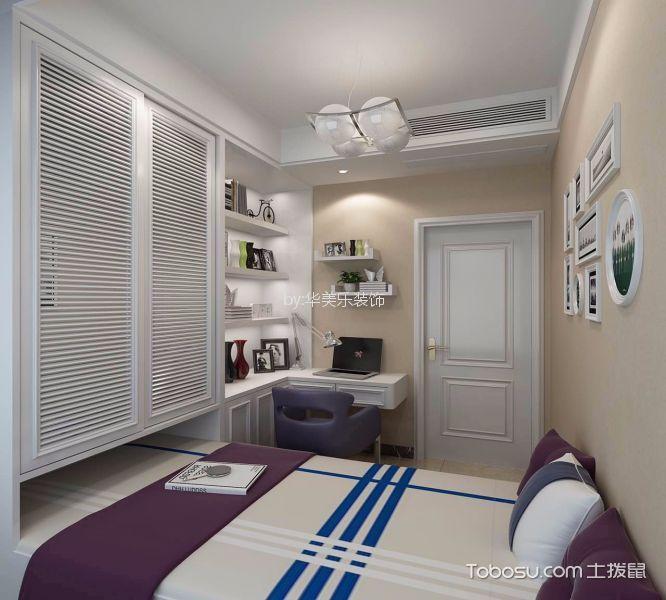 卧室黄色照片墙简欧风格装饰图片
