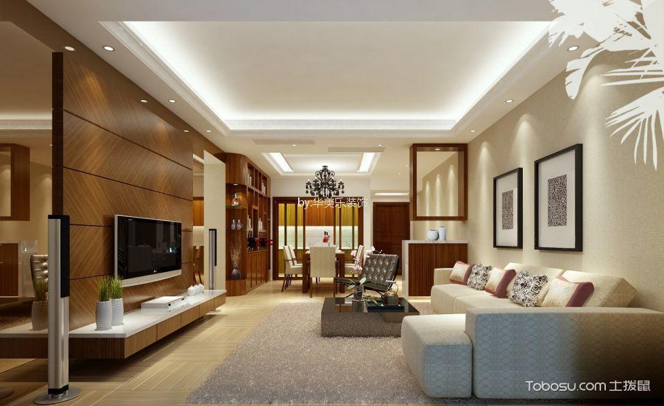 西荟城120平后现代3房2厅2卫装修效果图
