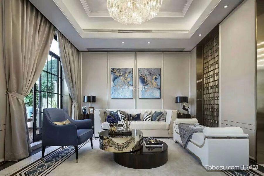 香莎公馆112平方新古典风格四居两厅装修效果图
