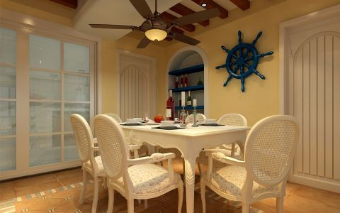 餐厅吊顶地中海风格装修图片
