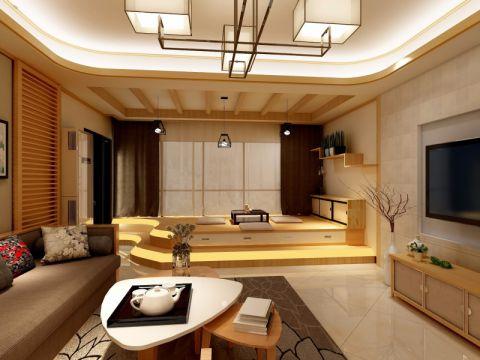 127平日式风格四居室装修效果图