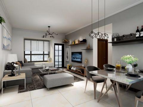 80平北欧风格三居室装修效果图