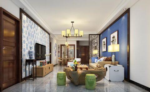 客厅绿色门厅欧式风格装修设计图片