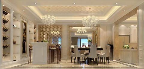 餐厅灰色厨房岛台欧式风格装潢设计图片