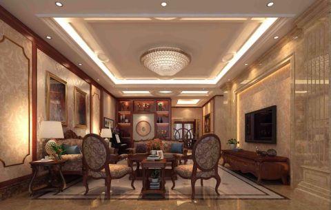 120平欧式风格三房两厅装修效果图