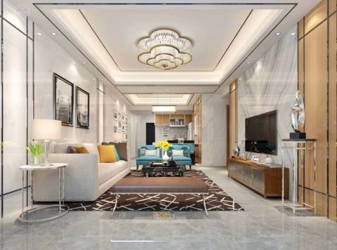125平方现代轻奢西荟城3房2厅2卫装修效果图