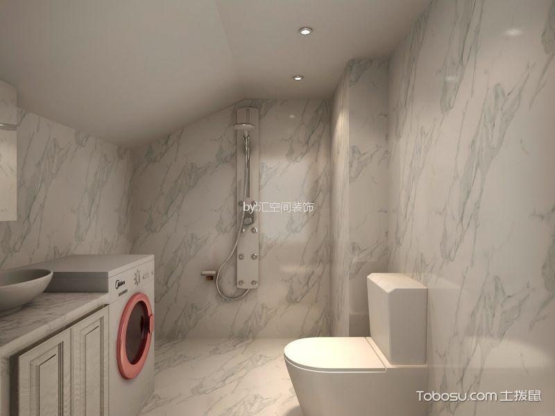 卫生间白色细节简欧风格装修设计图片