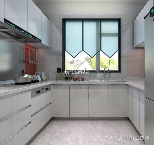 厨房灰色橱柜新中式风格装修图片