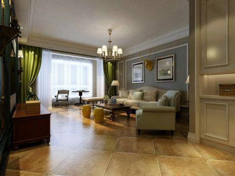 151平米三室两厅两卫美式风格装修效果图