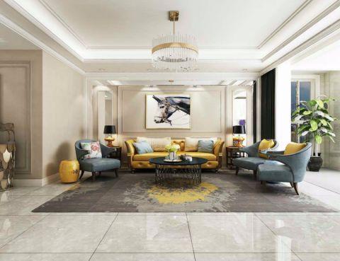 153平米三室两厅两卫国宾一号美式风格装修效果图