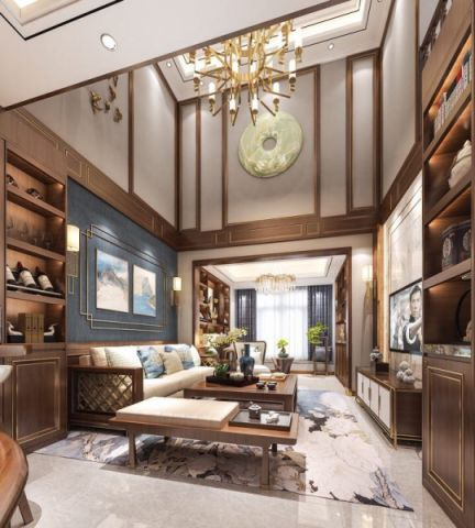 客厅细节中式风格装饰图片