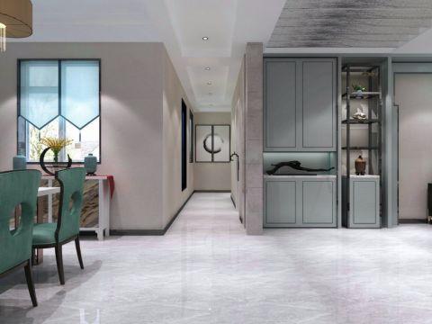 客厅地板砖新中式风格装潢设计图片