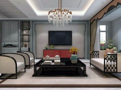 151平米三室两厅两卫新中式风格装修效果图