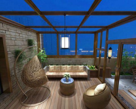 阳台细节新中式风格装潢图片